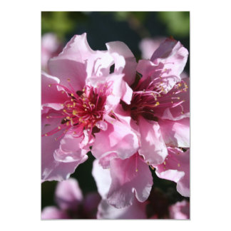 Peach Tree Blossom With Garden Background Personalized Invitations