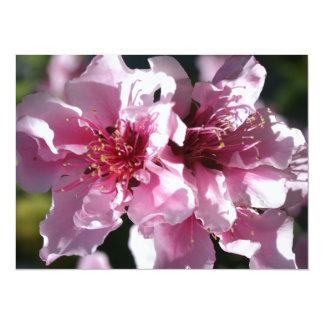 Peach Tree Blossom With Garden Background Invite