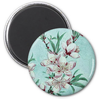 Peach tree branches blossoms by Megata Magnets