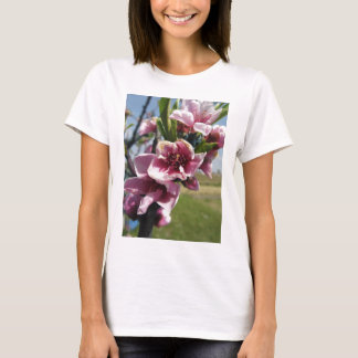 Peach tree branches with blossoms T-Shirt