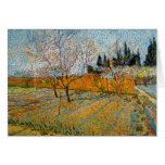 Peach Trees by Vincent van Gogh Greeting Cards