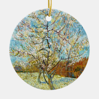 Peach Trees in Blossom Vincent Van Gogh Ceramic Ornament