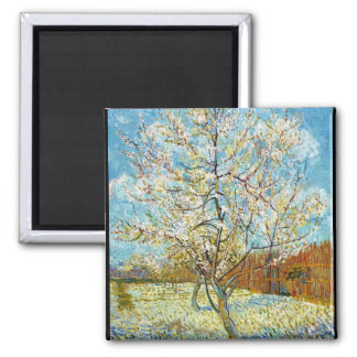 Peach Trees in Blossom Vincent Van Gogh Fridge Magnet