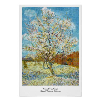 Peach Trees in Blossom Vincent Van Gogh Poster