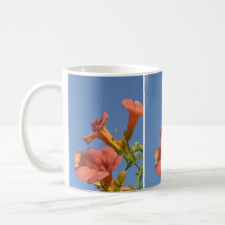 Peach Trumpet Vine Flower Mug