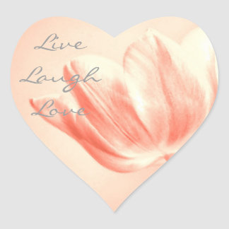 Peach Tulip Live, Laugh, Love Stickers