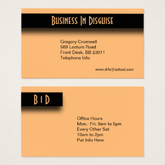 Peach Two Sided Business Card