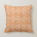 Peach Venetian Medley Design Throw Pillow