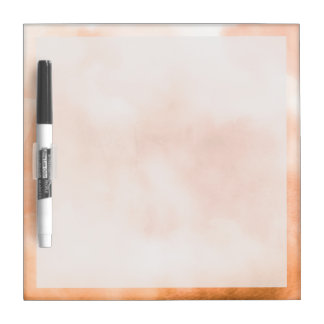 Peach Watercolor Clouds Abstract Dry Erase Board