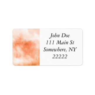Peach Watercolor Clouds Abstract Label