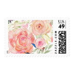 Peach Watercolor Floral Stamp