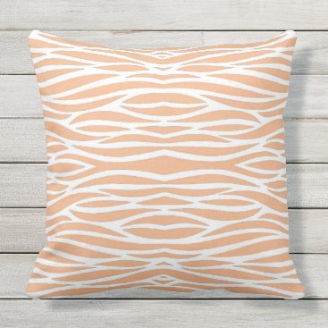 Beach Themed Peach WavesThrow Pillow