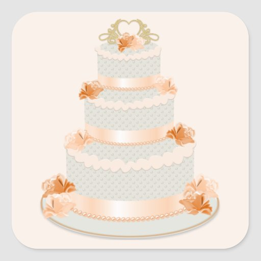 wedding cake bag stickers wedding cake sticker zazzle 21785