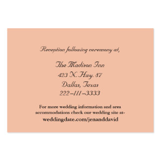 Peach Wedding enclosure cards Large Business Cards (Pack Of 100)