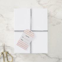 Peach White Aztec Arrows Monogram Gift Tags