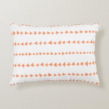 Aztec Themed Peach White Aztec Arrows Pattern Accent Pillow