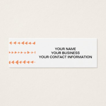 Aztec Themed Peach White Aztec Arrows Pattern Mini Business Card