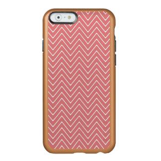 Peach White Chevron Pattern 2A Incipio Feather® Shine iPhone 6 Case