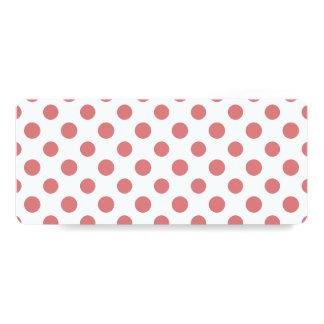 Peach White Polka Dots Pattern Card
