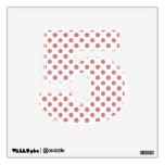 Peach White Polka Dots Pattern Wall Decals