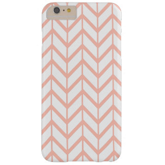 Peach White Unique Zigzag Chevron Pattern Girly Barely There iPhone 6 Plus Case
