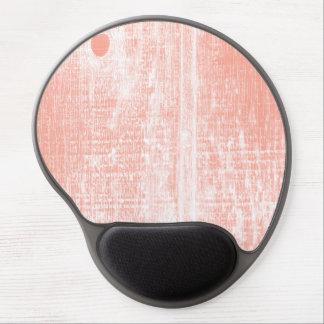 Peach Woodgrain Effect Gel Mouse Pad