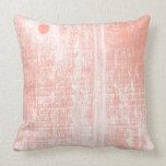 Peach Woodgrain Effect Pillow