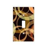 Peach, Yellow, and Brown Circles Pattern Light Switch Covers