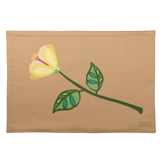 Peach yellow flower placemat