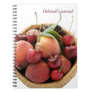 peaches and cherries journal notebook