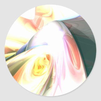 Peaches and Cream Abstract Sticker