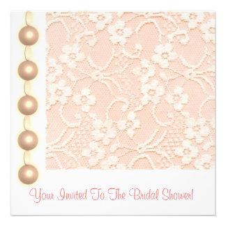 Peaches and Cream Bridal Shower Invitation Card