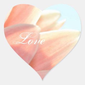 Peaches and Cream-Love Heart Sticker