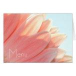 Peaches and Cream- Menu Cards