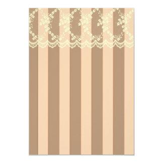 Peaches and Cream Victorian Wedding Card