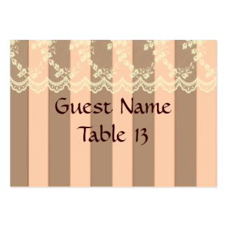 Peaches and Cream Victorian Wedding Table Card Business Cards