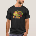 Peaches and Fruits Basket - Vintage Art T-Shirt