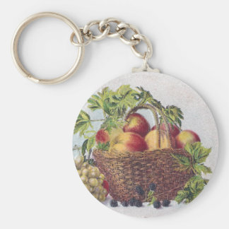 Peaches and Grapes Vintage Thanksgiving Keychain