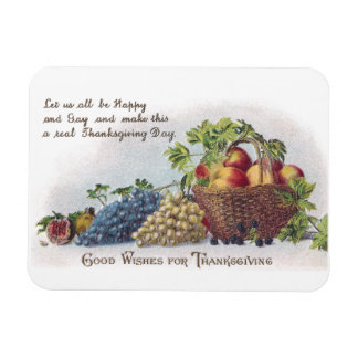 Peaches and Grapes Vintage Thanksgiving Magnet
