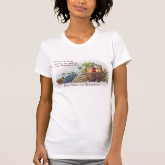 Peaches and Grapes Vintage Thanksgiving T-Shirt