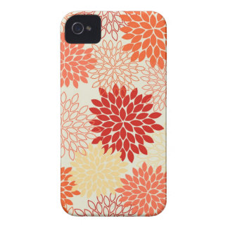 Peaches and Tangerine Mums iPhone 4 Covers