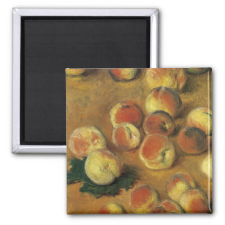 Peaches by Claude Monet 2 Inch Square Magnet