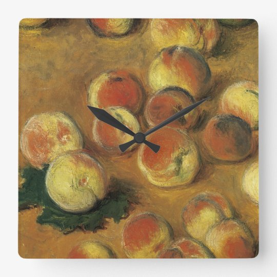 Peaches by Claude Monet Square Wall Clock