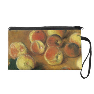 Peaches by Claude Monet Wristlet Purse