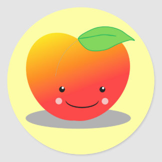 Peaches Classic Round Sticker