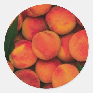 Peaches Classic Round Sticker