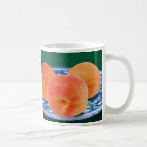 Peaches Classic White Coffee Mug