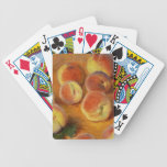 Peaches - Claude Monet Bicycle Poker Deck