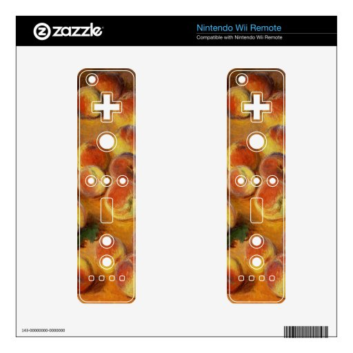 Peaches - Claude Monet Skin For Wii Remote