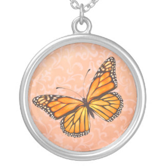 Peaches & Cream Butterfly Necklace